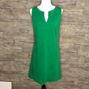 New York & Company green v-neck sheath dress